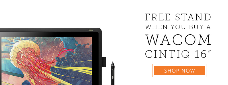 wacom free stand banner
